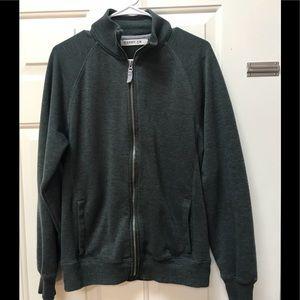 Dark Green Zip Sweater